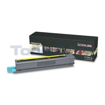 LEXMARK C925 TONER CART YELLOW HY
